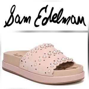NWOT Sam Edelman Shell Pink Sera Slide Sandal - 11